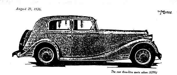 Crossley 3 litre Saloon -Beauvais body